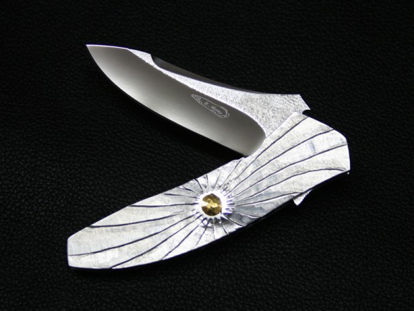 SANZE - SUN & MOON - Koji HARA Custom Flipper Liner-Lock Tactical Knife