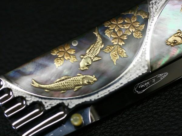 MAKI-E CARPS and FLOWER - Koji Hara Knives
