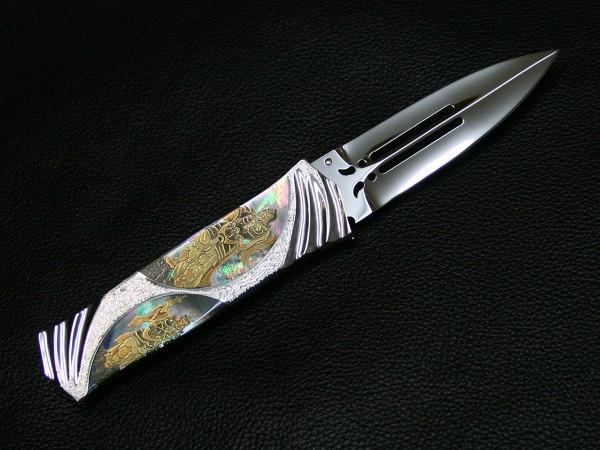 原幸治 蒔絵 四天王 ナイフ